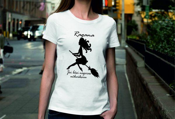 Marškinėliai: Ragana – jei būsi negeras užkeiksiu